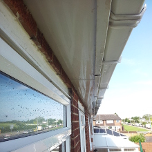 After Shot of Gutter Cleaning Braintree.